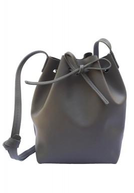 حقيبة كتف باللون الرمادي الغامق