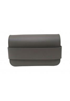 حقيبة البوليت باللون الرمادي الغامق