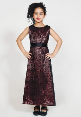 Two toned sleeves jacquard dress
