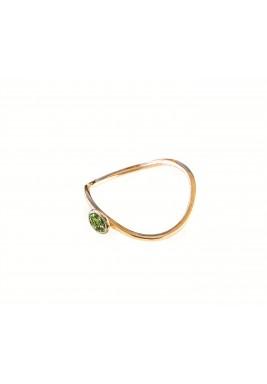 خاتم مرصع بالجارنت الأخضر