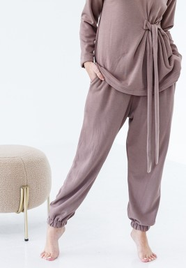 Beige Loungewear Pants