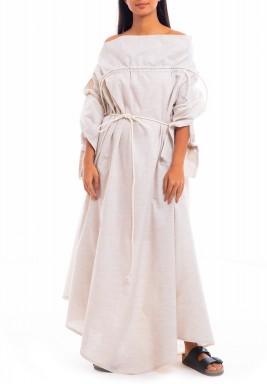 فستان بوهو بيج محزم بأكتاف مكشوفة