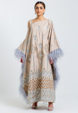 Soft feathers kaftan