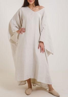 فستان واسع بكتف واحد