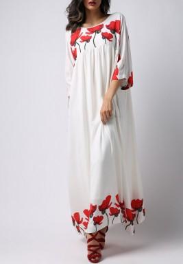 فستان التوليب الأحمر