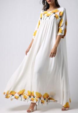 فستان التوليب الأصفر