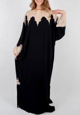 فستان سلطان أسود وذهبي