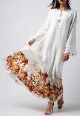 فستان الخريف بأكمام طويلة