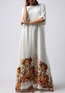 فستان الخريف بأكمام قصيرة