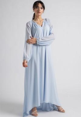 فستان سيندريلا أزرق سماوي فاتح