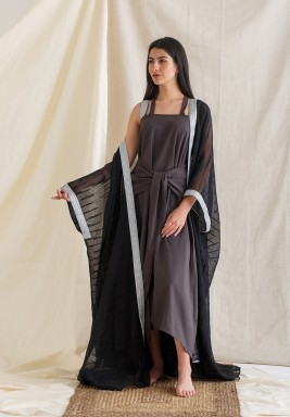Knot Kaftan with Besht Black/Silver