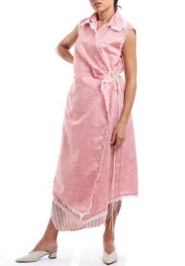 طقم رافيا الحلوى الملتفة الوردي