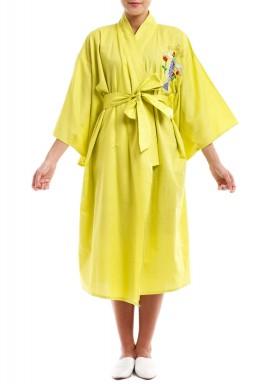 بشت حمام شمس صيفي باللون الأصفر الليموني