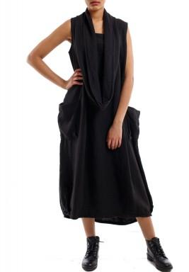 فستان غير مردن أسود