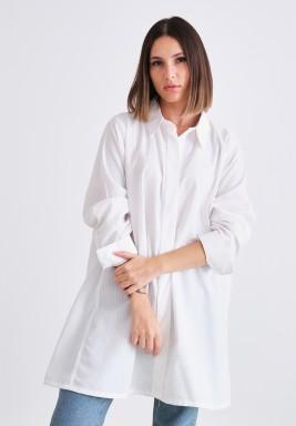 قميص أبيض مخطط