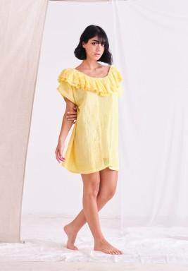 Yellow Top with Ruffel