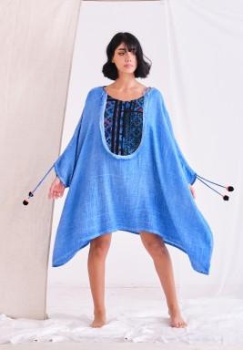 Blue Kaftan with Cpt Dye