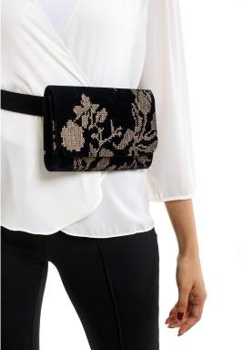حقيبة الحزام المخملية
