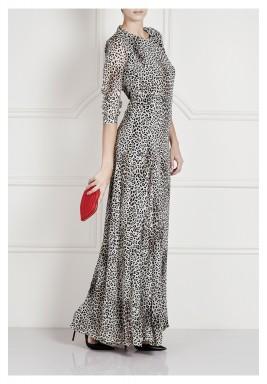 فستان ماكسي بطبعة الفهد