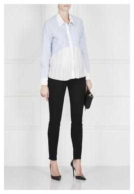 قميص مطوي من القطن والحرير