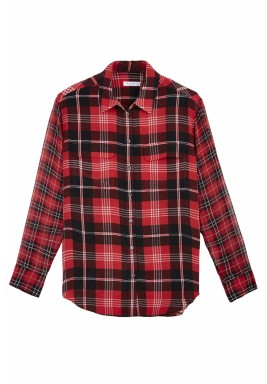 قميص منقوش من الحرير