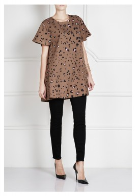 فستان بطبعة جلد النمر