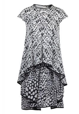 ميرا – فستان ملفوف ومتعدد الطبقات من الحرير