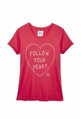 تي شيرت جيرسي بطبعة  Follow your heart