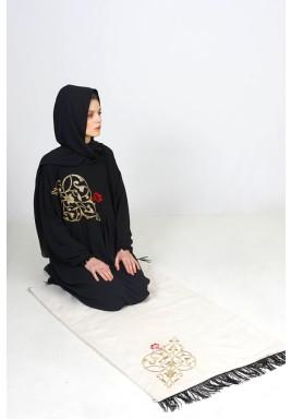 طقم صلاة دمشقي أسود