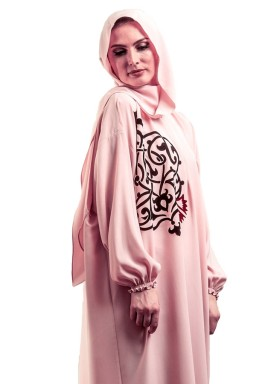 ثوب صلاة وردي بالخط العربي