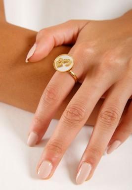 خاتم الماس بحرف الشين