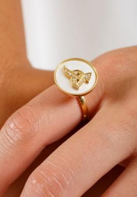 خاتم الماس بحرف الهاء