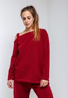 Dark Red Loungewear Top