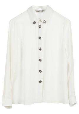 قميص مزين بالأحجار الزهرية