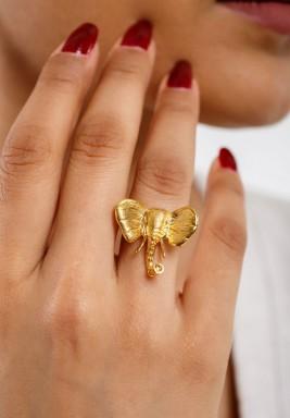 خاتم الفيل مطلي بالذهب
