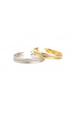 Crystal Line set of 2  Bracelets
