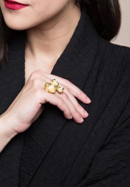 خاتم من الذهب والمرجان