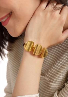 أسوارة عملات معدنية بوهيمية مطلية بالذهب
