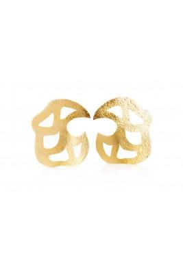 أقراط سمارا المطلية بالذهب