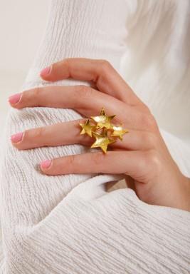 خاتم النجوم المطلي بالذهب
