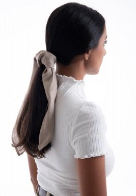 ربطة شعر بيج
