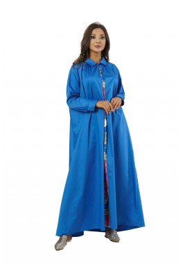 فستان دايموند الأزرق بطبعات ملونة