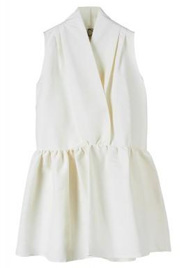 فستان مطوي الطرف