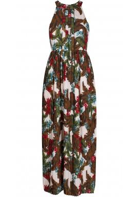 فستان بطبعة الأزهار والكسر