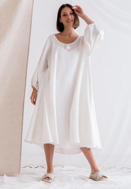 فستان أبيض بظهر مفتوح