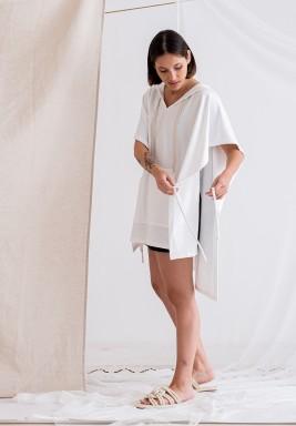 غطاء بحر أبيض خامة منشفة