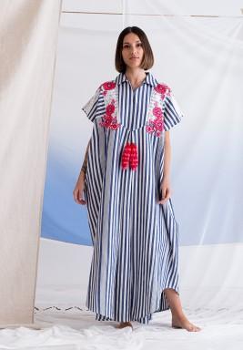 Ahujas Dress Blue/White Stripe