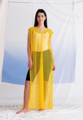 Mango Sleeveless Mesh Dress