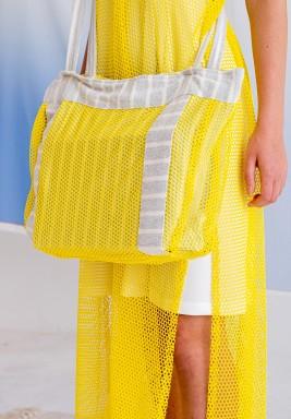 حقيبة شاطئ صفراء