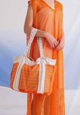 حقيبة شاطئ برتقالية